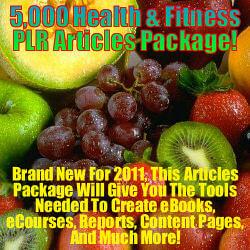 5000 Health & Fitness PLR Articles