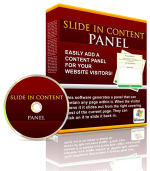 Slide In Content Panel
